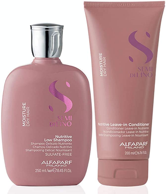 Kit Alfaparf Semi Di Lino Moisture  Kit Shampoo 250ml e Condicionador 200ml