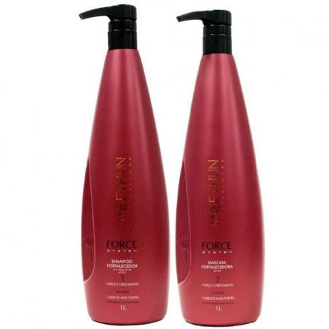 Aneethun Kit Force System  Shampoo 1 Litro + Mascara 1 Litro