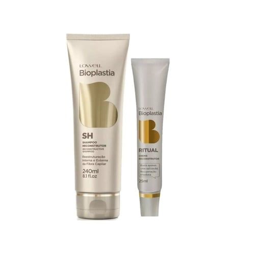 Lowell Bioplastia Shampoo Reconstrutor + Creme Reconstrutor 25 -ml