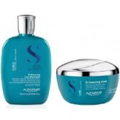 Kit Alfaparf Semi Di Lino Curls Enhancing Low Shampoo 250ml + Mask Curls Alfaparf 200ml