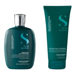 Kit Alfaparf Semi Di Lino Reconstruction Shampoo 250 ml E Leave-in 200 ml - ( Ganhe Mini Chapinha)