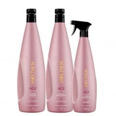 Aneethun  Kit Age System Sh 1LT Elixir 500ml e Másc.1LT  Cab. Envelhecido