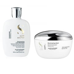 Alfaparf Semi Di Lino Illuminating Low Shampoo 250ml / Illuminating Mask 200ml ( Ganhe Mini Chapinha)